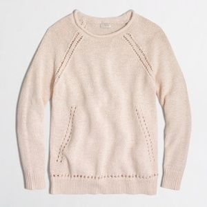 J. Crew | Beach Sweater with Pointelle Details